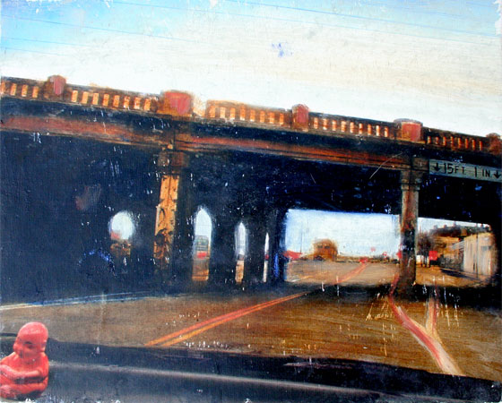 Buddha Brigde 15ft 2 12in x 9 in oil on panel