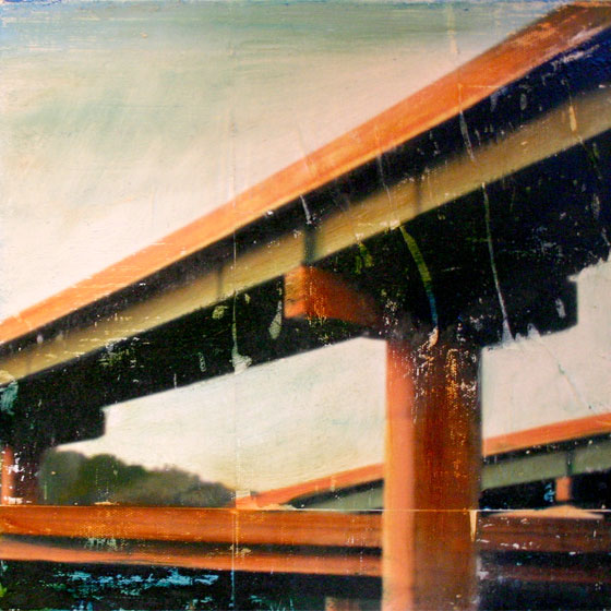 Overpass 12in x 12in oil on panel